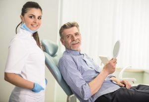 hygienist and patient